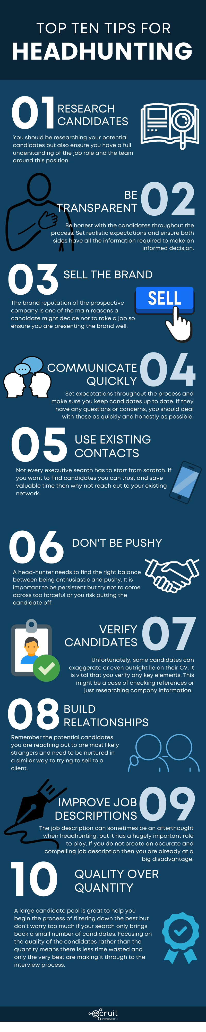 Top 10 Tips For Headhunting Infographic